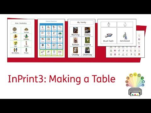 Lage en tabell