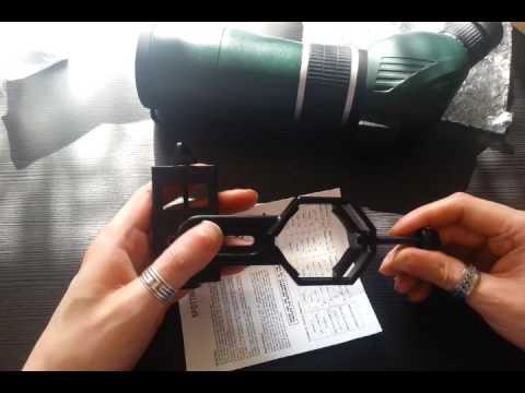 Universal Adapter für Smartphone mit Spektiv/Teleskop/Mikroskop/Ferngläser-Unboxing
