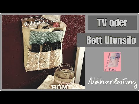 TV-Utensilo    Bett    Utensilo    Nähanleitung    Kerstin's Kreative Ecke