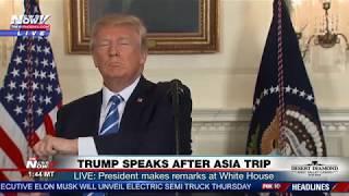 WATCH: President Trump Stops Speech For Some Fiji Water (FNN)