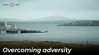 VOR: Video of the Day – Vestas is about to leave the Falklands with a delivery crew, under power and