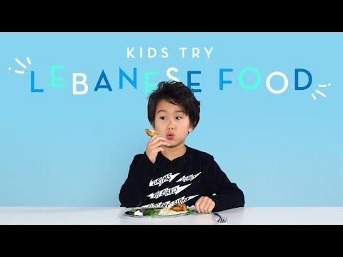Kids Try Lebanese Food | Kids Try | HiHo