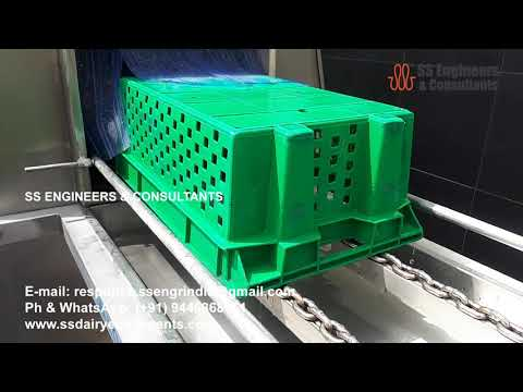 Solar Hot Water Generator System for Crate Washer