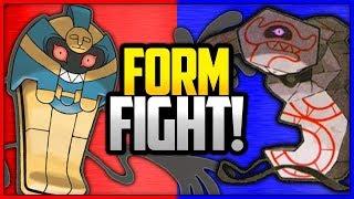 Runerigus  - (Pokémon) - Cofagrigus vs Runerigus Pokémon   Form Fight (Sword & Shield) [4K]