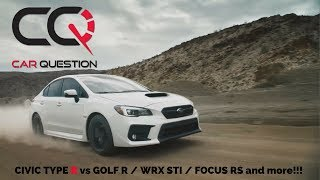 honda civic type r vs subaru wrx sti vs ford focus rs - TH-Clip