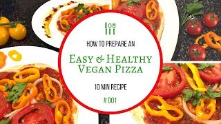 How To Cook A Vegan Pizza Under 300 Calories - Marly Cook #001