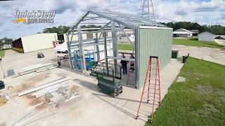 See How Simple It Is To Put Up A Steel Building - Time Lapse HD