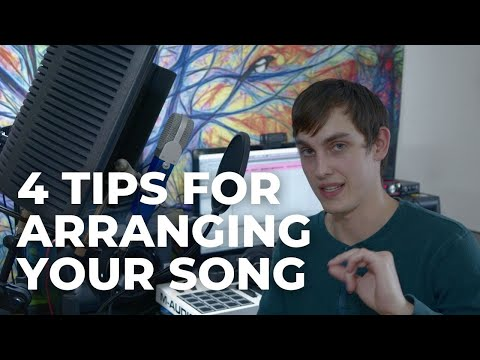 Explaining my top 4 tips for arranging a song.