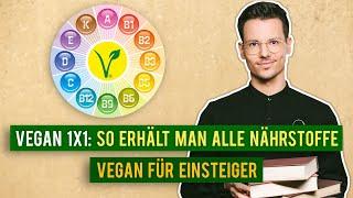 Optimale Nährstoffversorgung ohne Tierprodukte • Wichtige Tipps für den veganen Einstieg