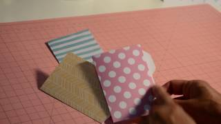 Mini File Folder Envelope Punch Board *TUTORIAL*
