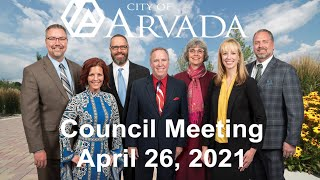 Preview image of Arvada City Council  Meeting - April 26, 2021