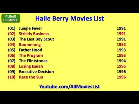 Halle Berry Movies List