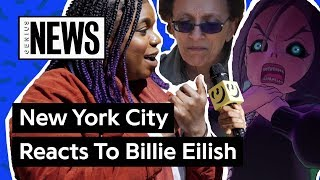 """NYC Reacts To Billie Eilish's """"you should see me in a crown"""" Music Video 