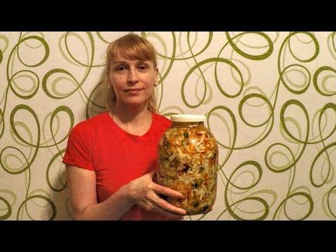 Салат из капусты на зиму с перцем вкусный рецепт заготовки
