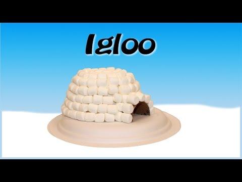 Bricolage igloo avec des guimauves