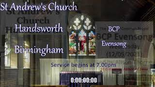 St Andrew's BCP Evening Prayer – Wednesday 9th June 2021