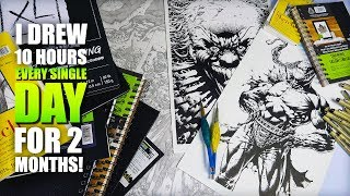 FLIPPING THROUGH MY SKETCHBOOKS (tour) *I drew 10 hours every single day for 2 months* (PART 2)