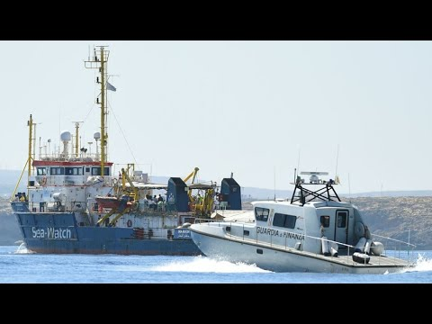 German migrant ship enters Italian water in defiance of country's ban