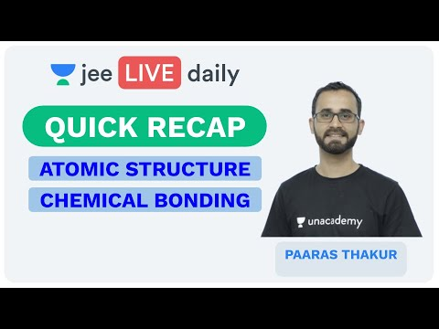 Atomic Structure | Chemical Bonding | Quick Recap | JEE Mains 2020 | Chemistry | Paaras Thakur