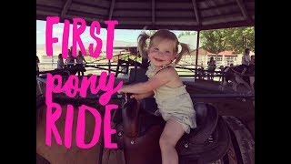 QUADRUPLETS RIDE THEIR FIRST PONY