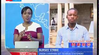 Nurses union chairman set to issue statement on nurses' strike