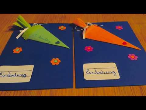 DIY - Einladungskarten zur Einschulung