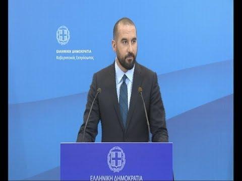 Δηλώσεις κυβερνητικού εκπροσώπου Δ. Τζανακόπουλου 14-03-18