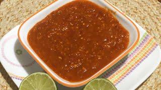 Red Chili Salsa Recipe - Chipotle Style / Chipotle - Hot Salsa