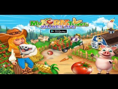 Vídeo do vida vila fazenda cidade: fazenda jogos off-line
