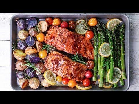 One-Pan Salmon and Veggie Dinner