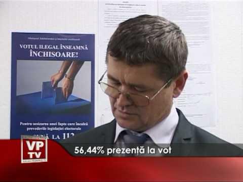 56,44% prezenţă la vot