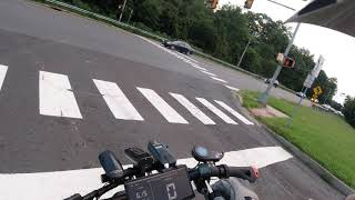 4K Raw FPV Evening / Night Ride Footage of Zero 11x (In Rain) Recorded with Helmet Cam