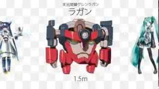FromNicoロボットの大きさ比較174作品を並べてみたミクロマン~グレンラガン
