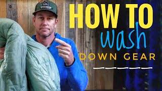 HOW TO WASH YOUR DOWN SLEEPING BAG OR QUILT - TIPS TO MAKE IT EASIER