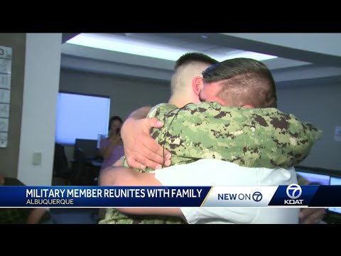 US Navy corpsman reunited with family