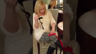 How to attach thigh high stockings to a garter belt