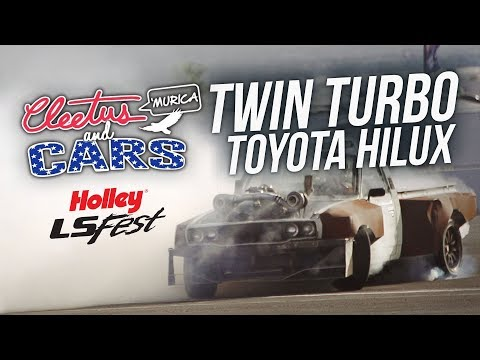 Twin Turbo Toyota Hilux - Cleetus and Cars LS Fest West