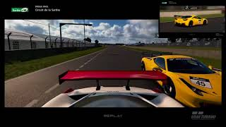 GT Sport - Circuit de la Sarthe Gr4 fight for first - Online lobby