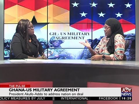Ghana-US Military Agreement - The Pulse on JoyNews (5-4-18)