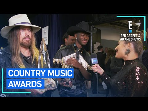 Lil Nas X & Billy Ray Cyrus Celebrate Win at 2019 CMAs   E! Red Carpet & Award Shows
