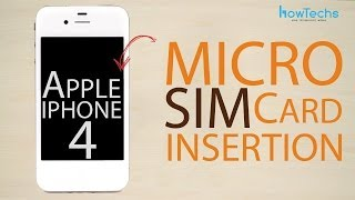 Apple iPhone 4 - How to Insert the SIM card