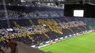 Coreografia Juventus Stadium Juventus - Atletico Madrid all