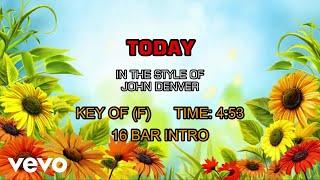 John Denver – Today (Karaoke)