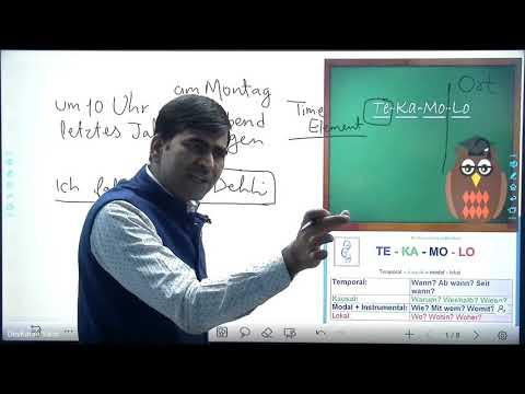 Sentence StructureTEKAMOLO  A1&B2 Deutsche Grammatik   Learn German in Hindi   Online German Classes