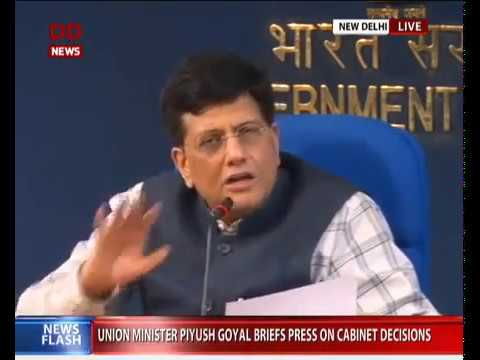 Cabinet briefing by Union Minister Piyush Goyal
