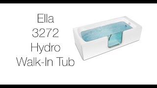 3272 Acrylic Laydown Walk-in Tub With Hydro Massage Video