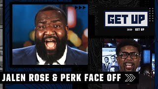 Jalen Rose and Perk's shouting match makes Greeny walk off the Get Up set