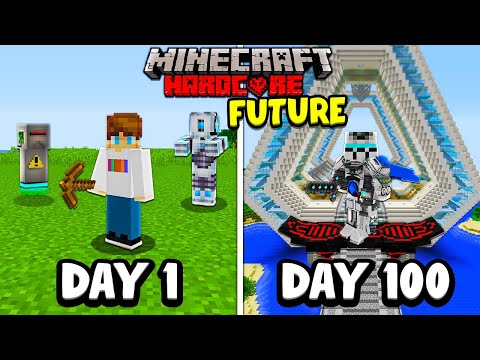 I Survived 100 Days in the FUTURE in Hardcore Minecraft...