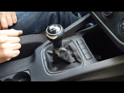 How to remove gear shift knob gaiter boot VW Golf  Mk5, Jetta in 5 simple steps