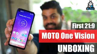 Motorola One Vision Unboxing, Punch Hole Camera, 21:9